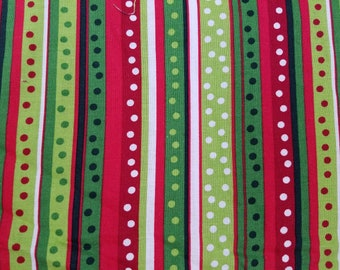 Dot Stripe Cotton Fabric sold by the yard