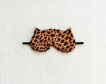 Leopard Silk Cat Sleep Eye Mask