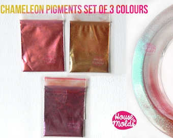 Chameleon Special Shiny Powder Pigments Set ,colour shifting  Amazing fine Pigments for resin or nail art-Add some magic to your creations!