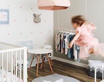Nursery rug / round crochet rug / bedroon rug / area rug / kids rug / scandinavian rug / modern nursery / geometric rug / nursery decor