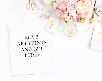 Buy 3 Prints and Get 1 Free, Wall Art Prints, Home Decor, Printed & Shipped Wall Art Home Decor 8x10 Art Prints