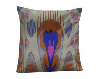Ikat Pillow, Handmade Ikat Pillow Cover  IP126 (S200), Ikat throw pillows, Designer pillows, Decorative pillows, Accent pillows