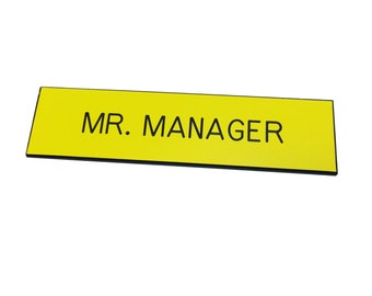 1/2 x 3 BLUTH'S Plastic Name Tag MR. MANAGER Badge Costume Arrested Development