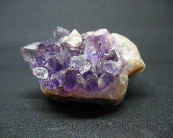 Amethyst crystal cluster, Uruguay amethyst, purple stone cluster, February birthstone, stone paper weight, EA11