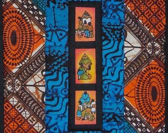 African wall art - Ugandan batik wall quilt