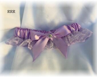 Lavender Lace Wedding Bridal Garter, Lavender Bridal Garter, Lace Bridal Garter,  Lace Wedding Bridal Garter, Lavender Wedding Garter