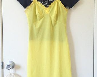 Yellow slip dress