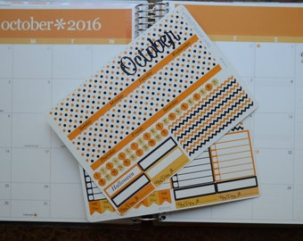 October Monthly Spread Kit Planner Stickers Removable Matte