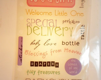 It's a Girl-Phrase Cafe/Scrapbooking Stickers- photo safe