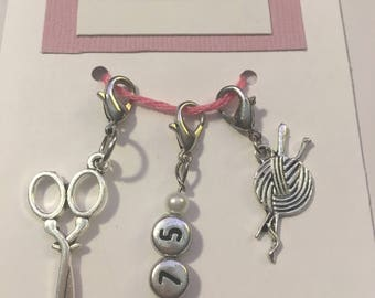3.75 mm Crochet Hook Size, Crochet Stitch Markers, Trio of Stitch Markers, Hook Size, Work in Progress