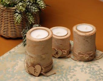 Weddings Candle. Wood candleholder. Weddings Day Candle. Wood Candle Holder. Rustic Candle Holder. Wood tealight holder. Wooden candlesticks