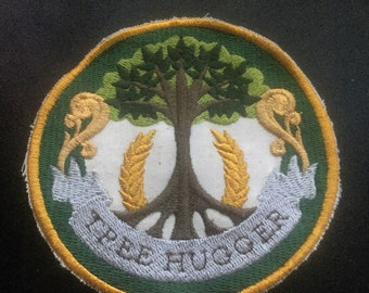 Tree Hugger Patch in Green and Gold