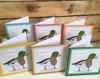 Ay Up Me Duck Mini Greetings Card