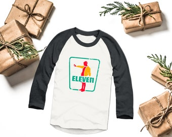 Seven Eleven Raglan- Stranger Things