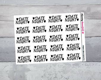Date Night Stickers, Date Night Planner Stickers, Eclp Date Night Stickers, Dating Stickers, Dating Planner Stickers, Date Stickers