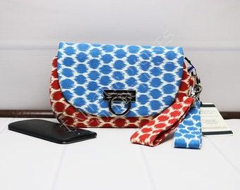 Smartphone Wristlet - Iphone Wristlet - Cellphone Wristlet - Wristlet Wallet - Wrist Strap Purse - Polka Dot Wristlet - Waverly Fabrics