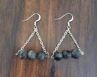 Labradorite Beaded Earrings