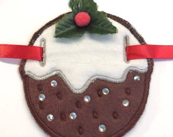CHRISTMAS PUDDING GARLAND...Machine embroidery designs