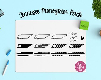 11 Tennessee SVG - Tennessee State SVG - Tennessee Monogram Frames - Tennessee Pride - Tennessee Love