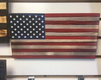 Old glory wooden flag