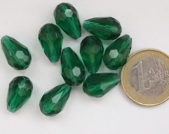 10 14 * 10 mm Green Quartz drops