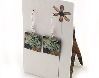 Sterling Silver Lichen Earrings