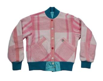 HAND MADE reversible stadium jacket