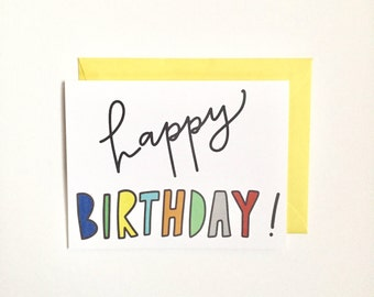 "Card with Envelope (4.25"" x 5.5"") - Happy Birthday!"