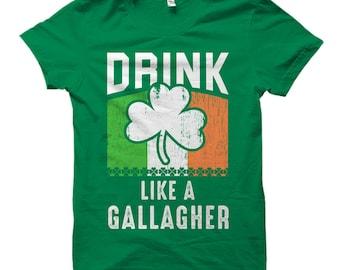 St Patricks Day T-Shirt, Funny Party Shirt, Irish Shirt, Gallagher Shirt, Drinking Shirt, St Pattys Day Shirt, Shamrock Shirt, Clover #OS682