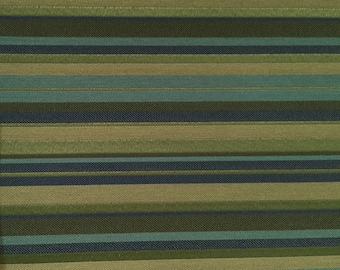 Blue/Green/Navy Stripe - Upholstery Fabric by the Yard