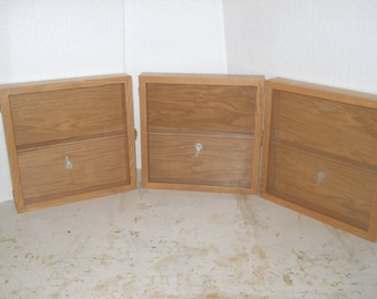 Display cases- set of three