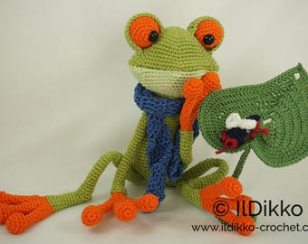 Amigurumi Crochet Pattern - Fred the Frog - English Version