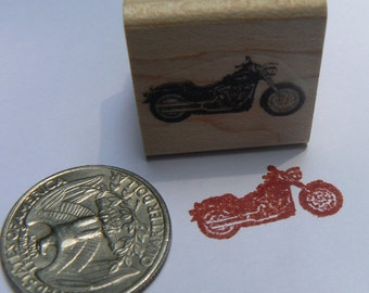 P24  Miniature motorcycle rubber stamp WM