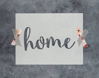 """Home Stencil - Reusable DIY Craft Stencils of the word """"Home"""" - Great for Wood Signs and Better than Decals!"""