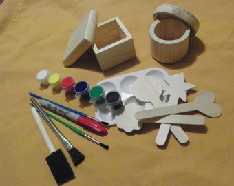 Wooden Box Paint Project - Free Shipping