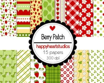 Digital Scrapbook  BerryPatch-INSTANT DOWNLOAD