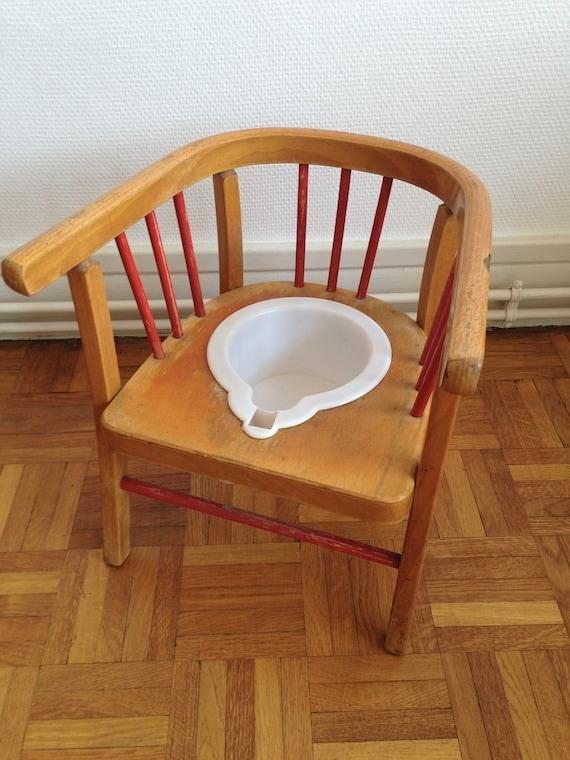 Chaise Pot Enfant Fauteuil Baumann Bois Courb Chambre