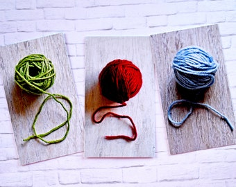 knitting gift card, set, gift card, gift tags, knitting gift tags, Hand Made for you, crochet gift tags, fiber care tags red blue green