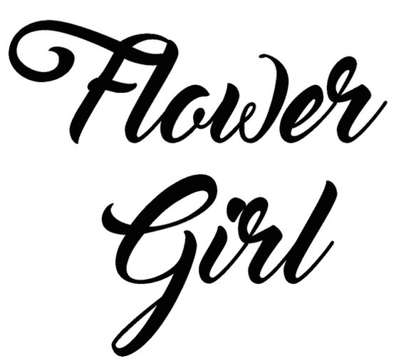 Flower girl vinyl sticker wedding decal yeti cup sticker bridal vinyl quote decal flower girl decal macbook sticker removable decal