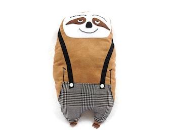 "Plush sloth ""Bernard"" suede / large / child's room decoration / gift"