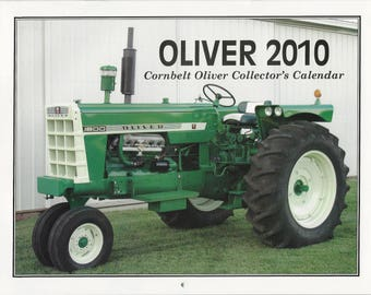 New 2010 Oliver Cornbelt Collector's  Calendar Featuring: Cover Tractor 1961 Oliver 1800 Series A Gas Tractor