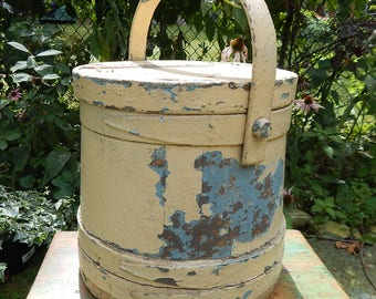 Large Antique Wood Firkin