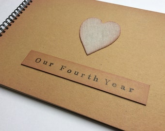 Fourth year anniversary gift / for husband / wife / girlfriend / boyfriend / gift for 4th year together / linen anniversary / linen gift