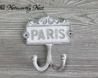 ANY COLOR Paris Wall hook / key hook / bathroom hook / grey decor / towel hook / bathroom decor / bedroom decor / Paris decor / Eiffel Tower
