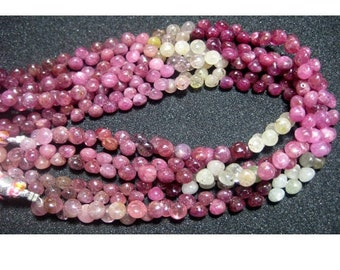 Sapphire Faceted Onion Beads/ Multi Sapphire/ Onion Briolettes/ 6mm Beads/ 36 Pieces