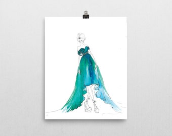 Oda- Watercolor Fashion Illustration