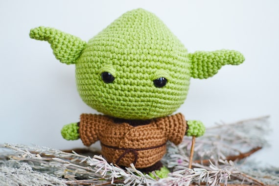Amigurumi Star Wars Patterns : Yoda crochet pattern. star wars crochet pattern. baby yoda amigurumi