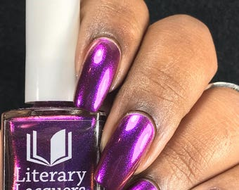 NEW! Grin Without a Cat - Violet to Burgundy Multichrome Nail Polish - Alice in Lacquerland