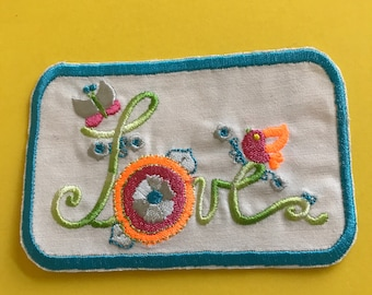 Love Patch, Love, Boho Style, Patches, Iron- Patch, Hippie, Patches