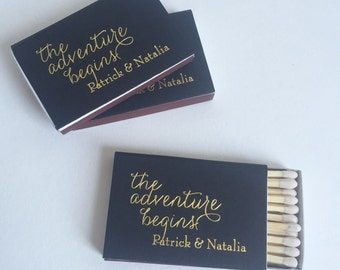 the adventure begins Personalized Matchbooks